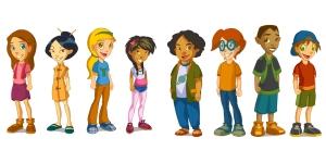 Familia de personajes de Aula365